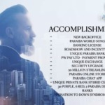 Paraiba World ACCOMPLISHMENTS