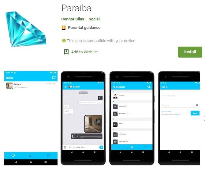 Paraiba World Mobile aplication