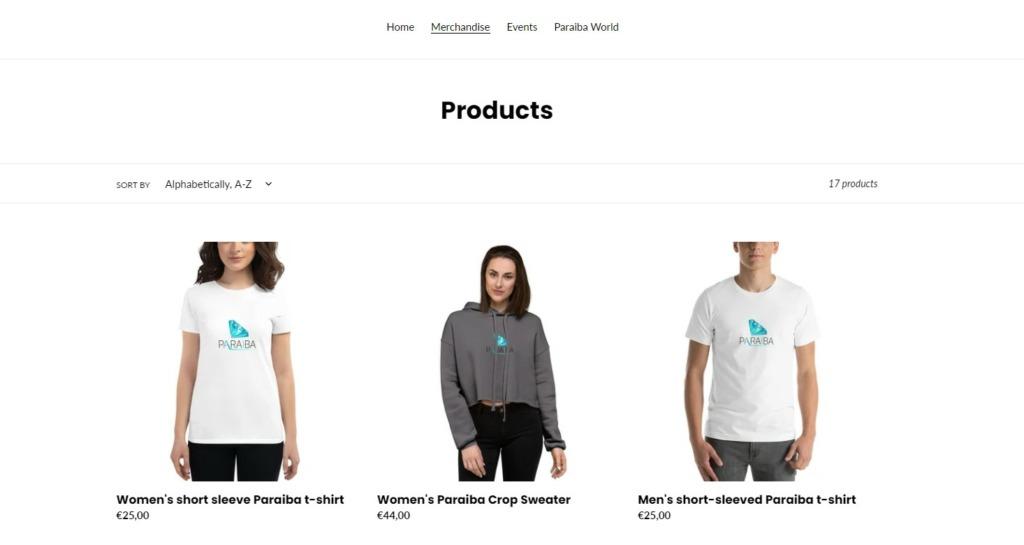 Paraiba Web Shop